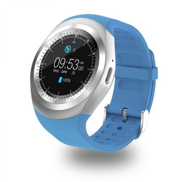 c50edf9cde9e 696 Bluetooth Y1 inteligente reloj Android SmartWatch llamada de teléfono  GSM Sim Cámara de Control Remoto ...