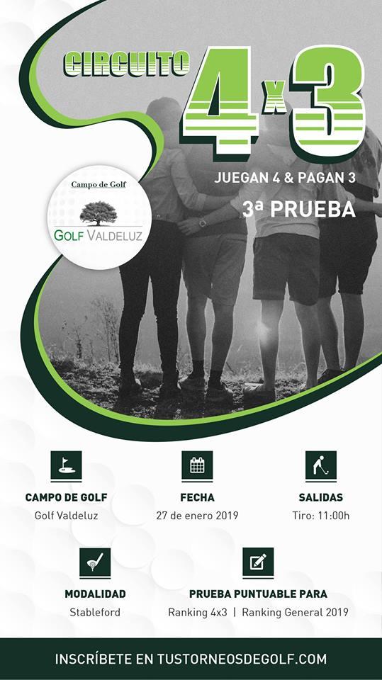 3ª Prueba del Circuito 4×3 | Golf Valdeluz
