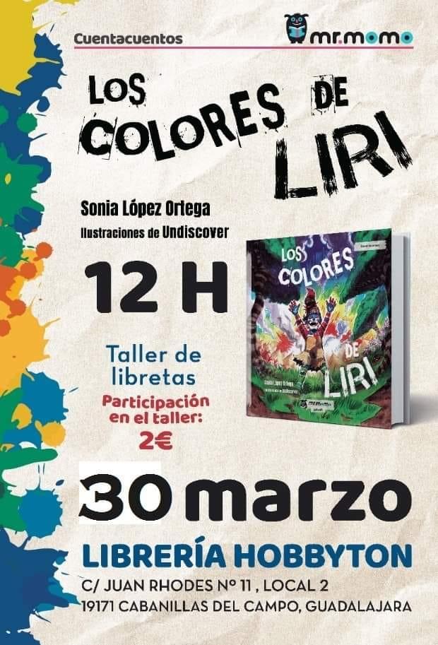 PRESENTACIÓN DE LOS COLORES DE LIRI, de SONIA LÓPEZ