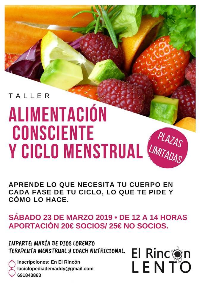 Taller de alimentación consciente y ciclo menstrual