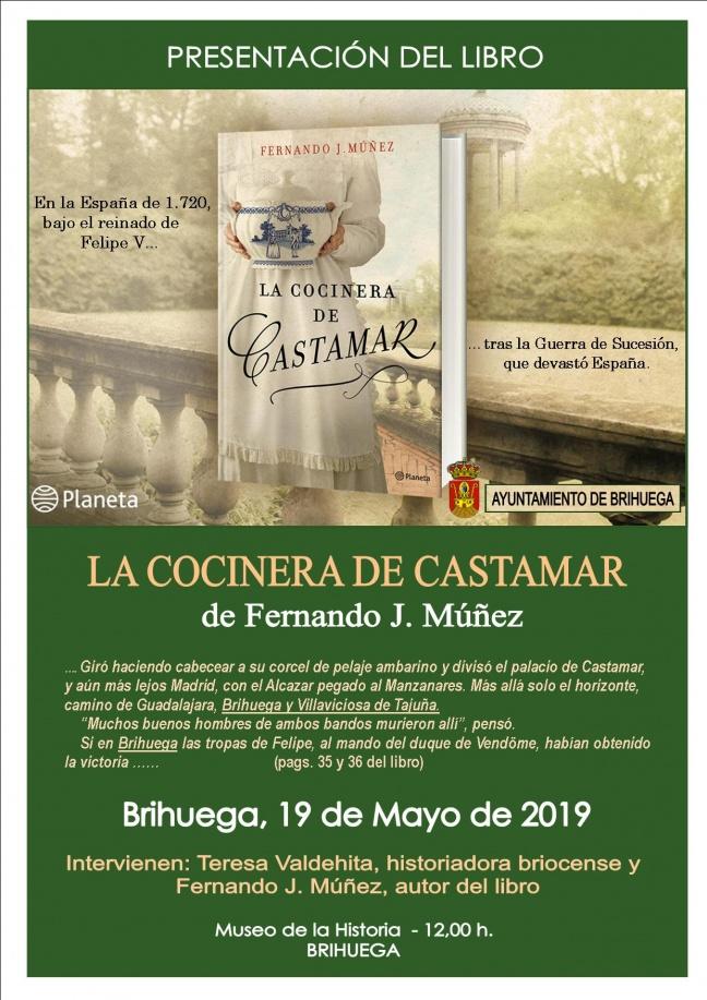 Presentación del libro «La cocinera de Castamar»