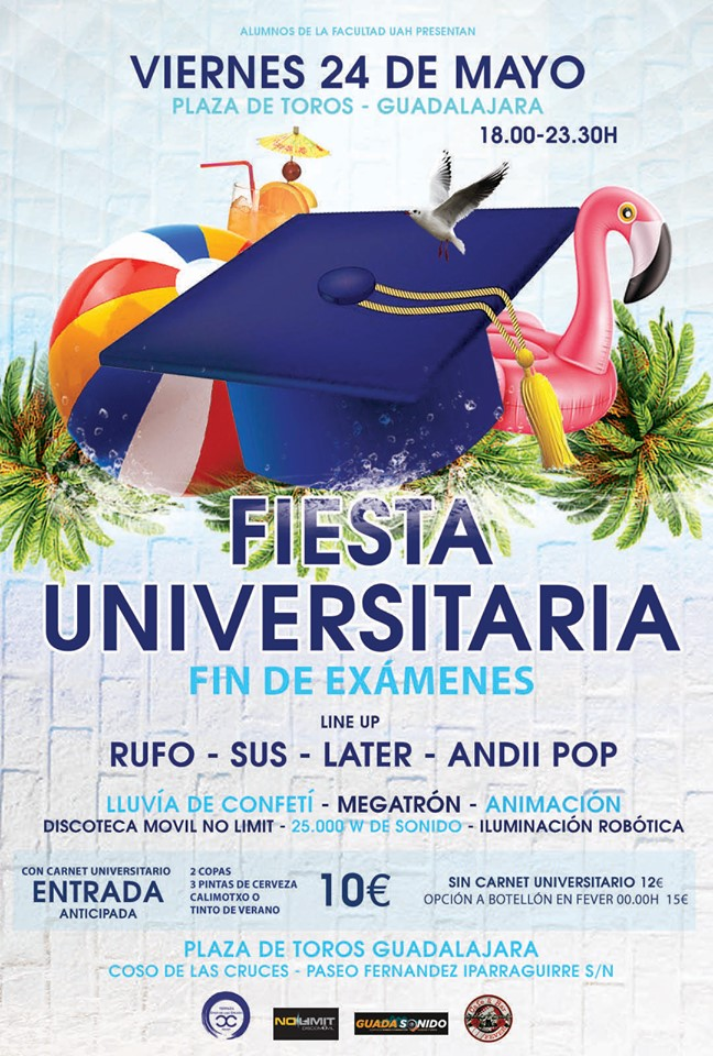 Fiesta Universitaria fin de exámenes