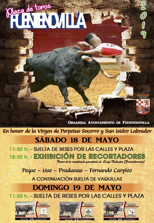 Exhibición de recortadores de toros y suelta de reses