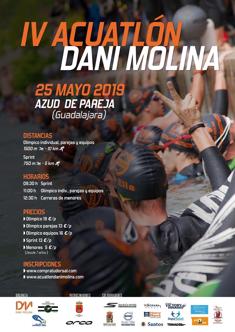 El IV Acuatlón Dani Molina, este sábado en el Azud de Pareja