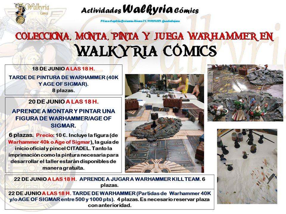 Colecciona, monta, pinta y juega a Warhammer con Walkyria Cómics