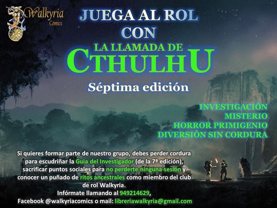 Juega a la La Llamada de Cthulhu 7a Edición