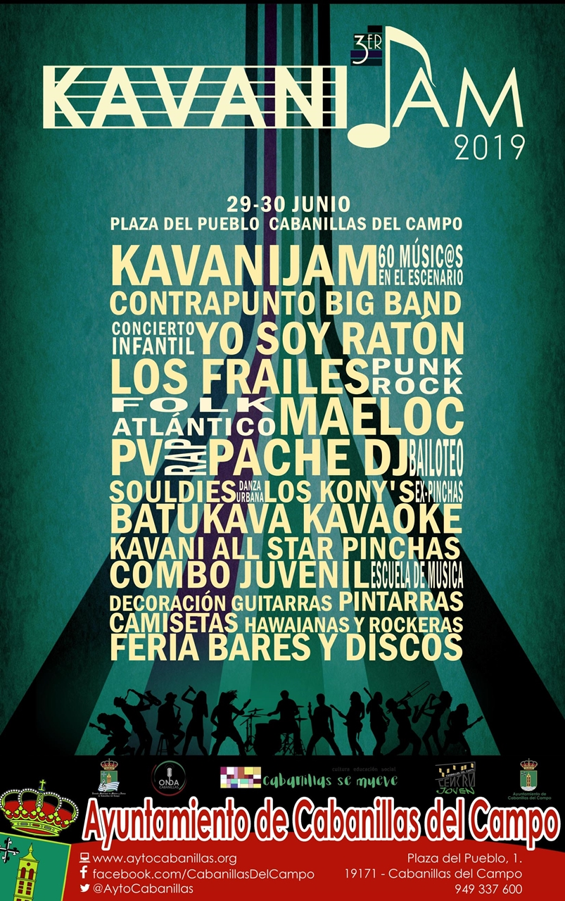 Programa del III KavaniJam en Cabanillas del Campo