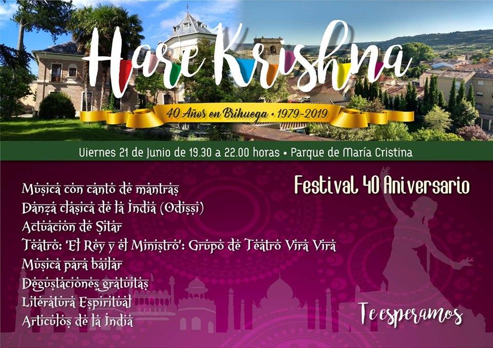 40 aniversario de Hare Krishna en Brihuega