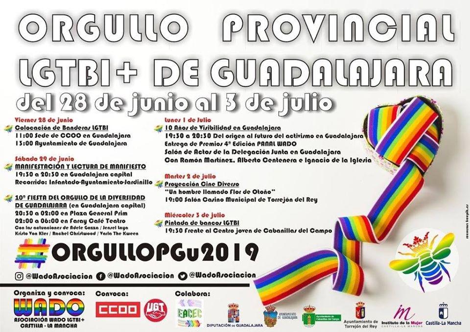 Programa del Orgullo LGTBI de Guadalajara 2019