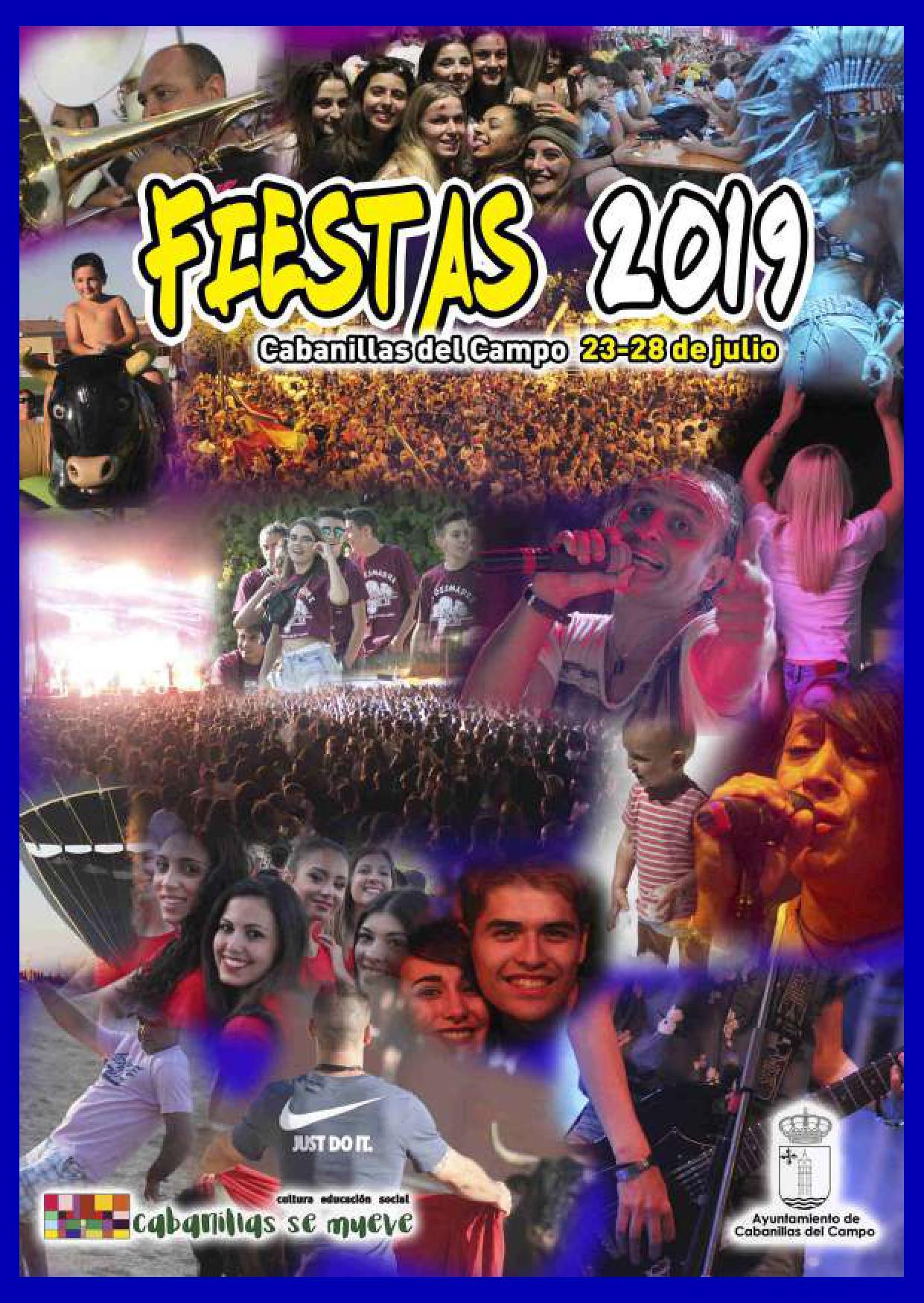 Programa de las Fiestas 2019 de Cabanillas del Campo
