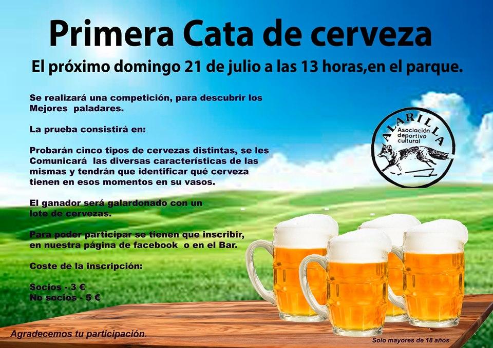 Primera cata de cerveza en Alarilla