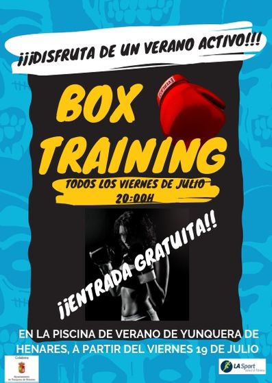 Box Training en la Piscina Municipal de Yunquera de Henares