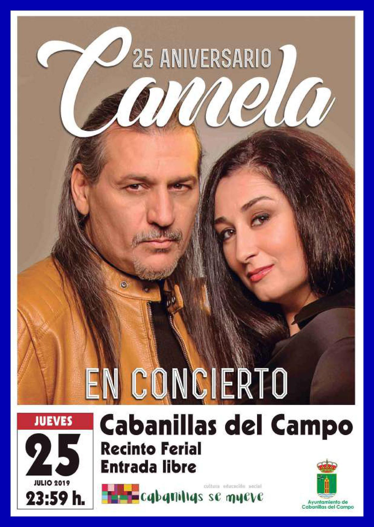 Camela en concierto en las fiestas de Cabanillas del Campo