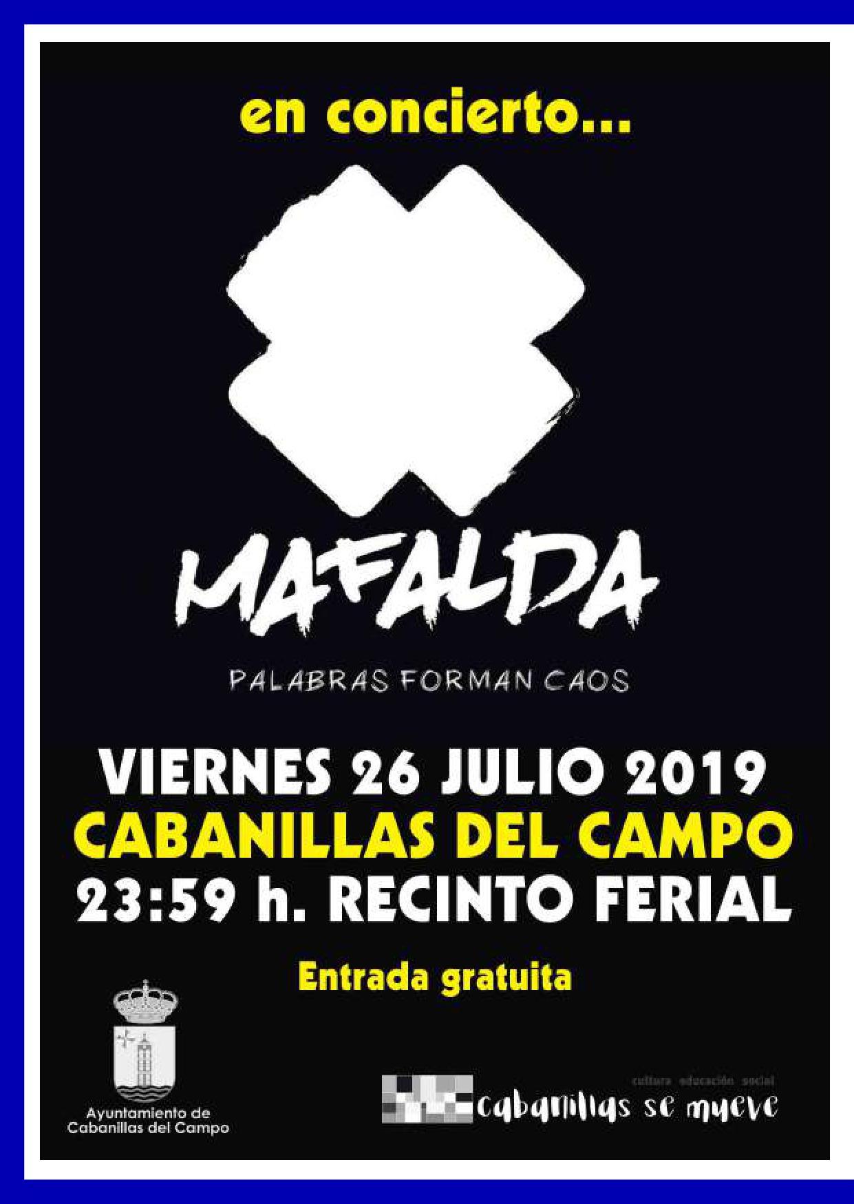 Concierto de «Mafalda» en las fiestas de Cabanillas