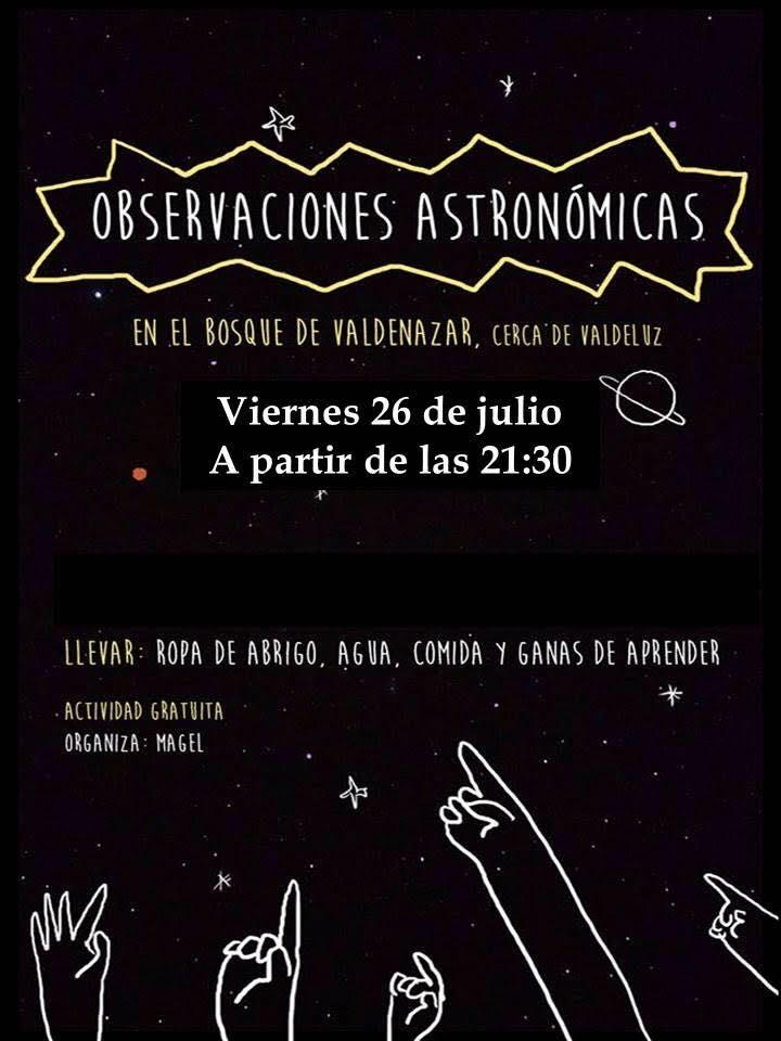 Observación astronómica en el bosque de Valdenazar