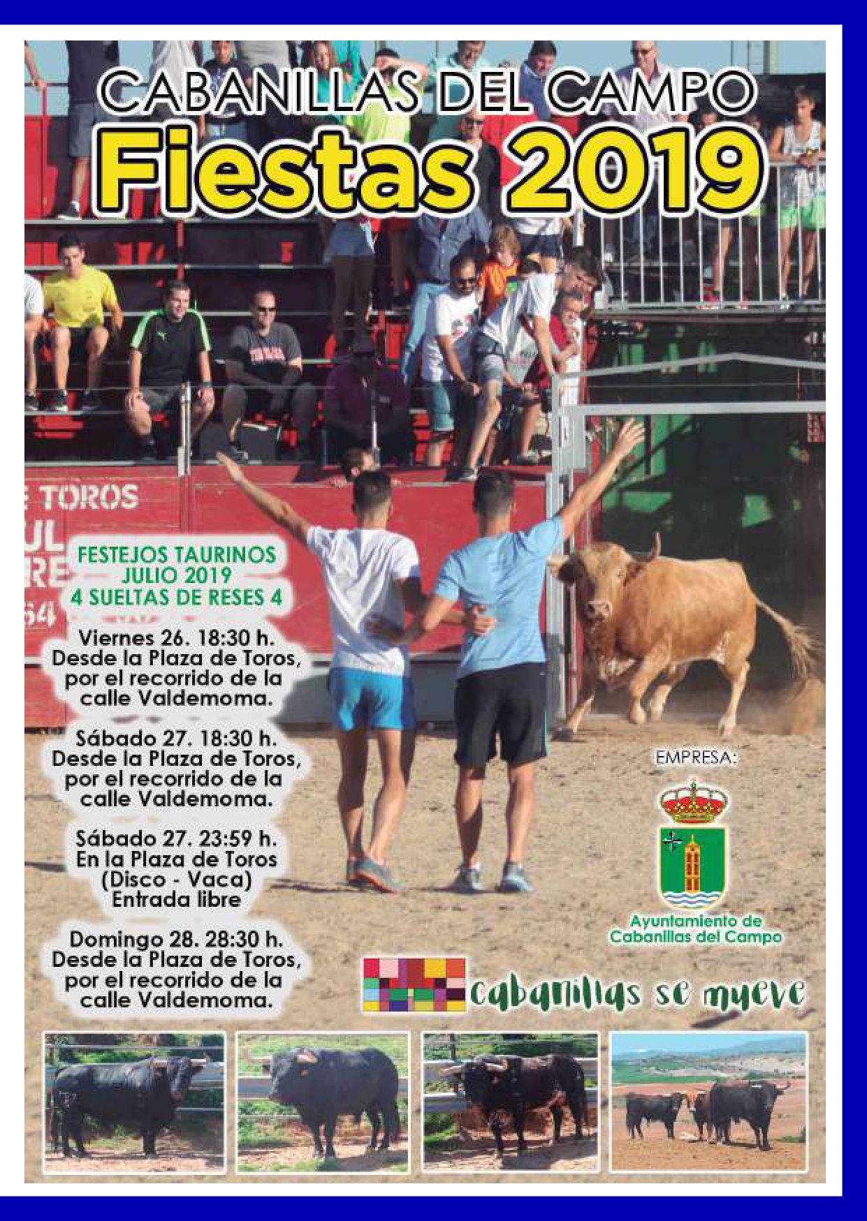Festejos taurinos en las fiestas de Cabanillas 2019