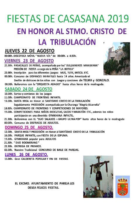 Programa de fiestas de Casasana 2019