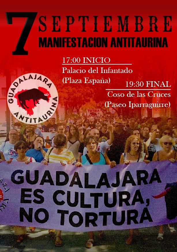 Manifestación Guadalajara Antitaurina 7 sept.