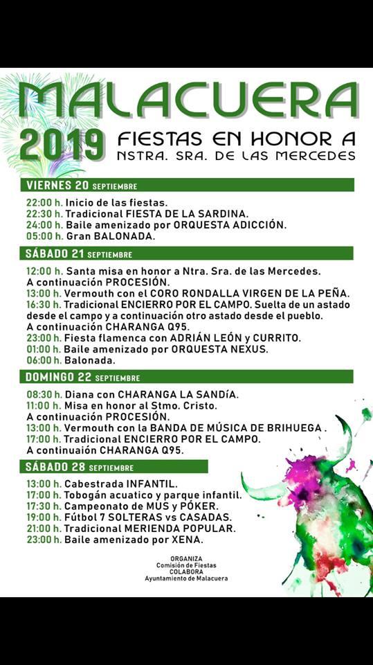 Fiestas Malacuera 2019