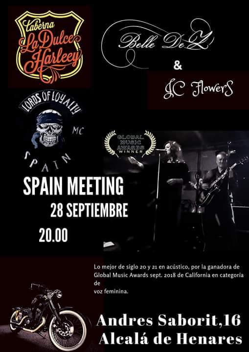 Belle De Z & JC Flowers en Spain Meeting de Lords of Loyalty MC