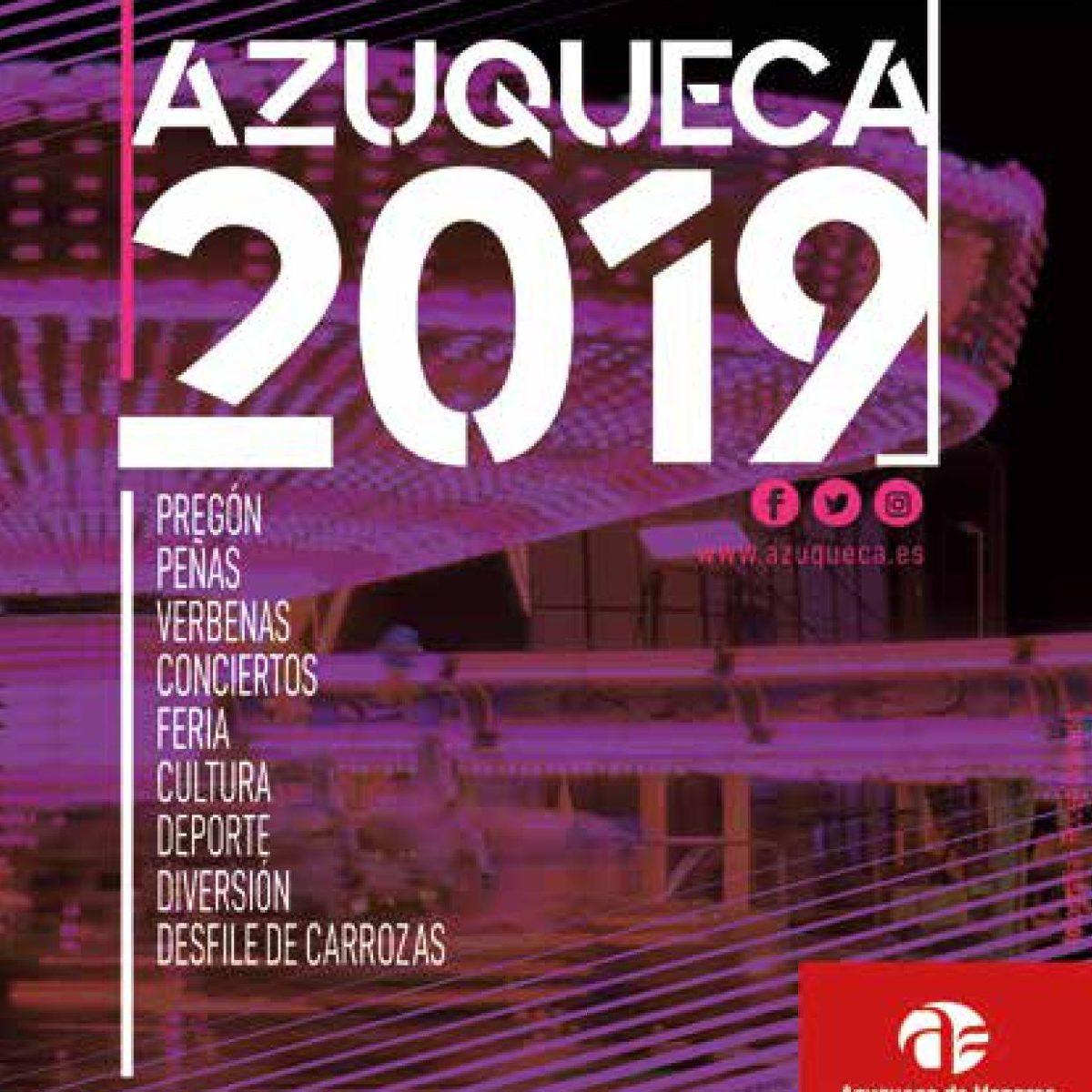 cartel fiestas Azuqueca 2019