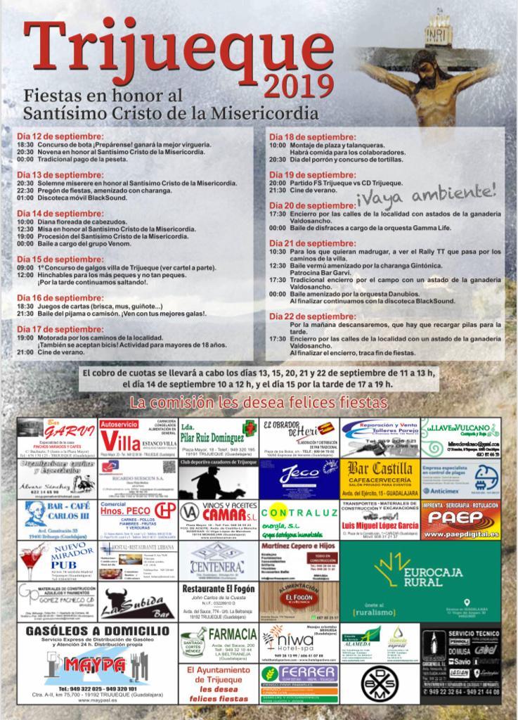 Festejos taurinos en Trijueque 2019