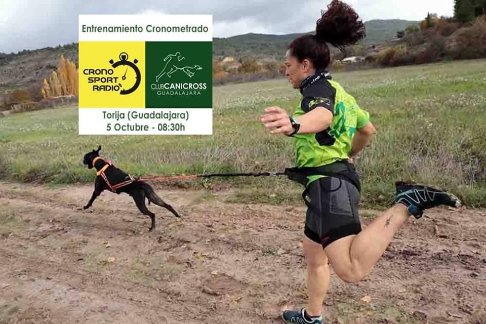 Entreno cronometrado Canicross-Bikejoring Torija