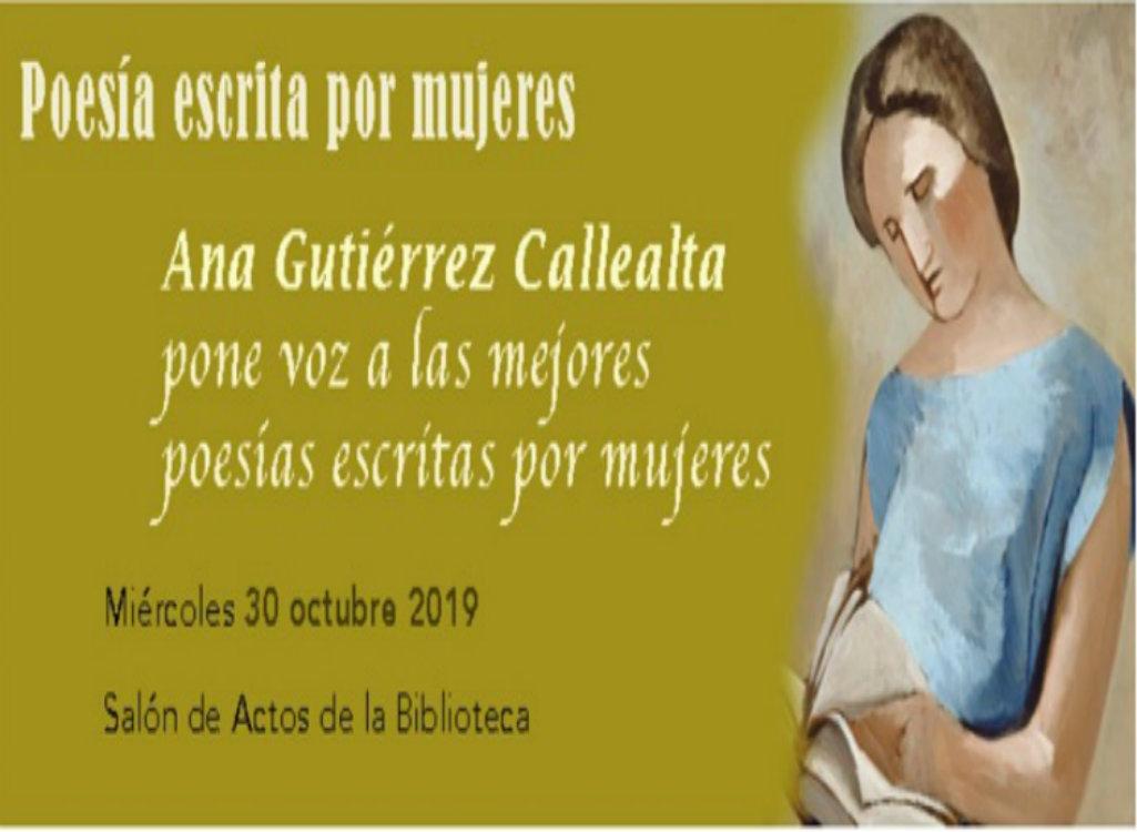 Conferencia «Poesía escrita por mujeres»