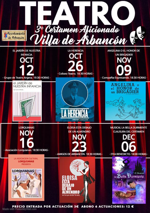 III Certamen de Teatro Aficionado de Arbancón