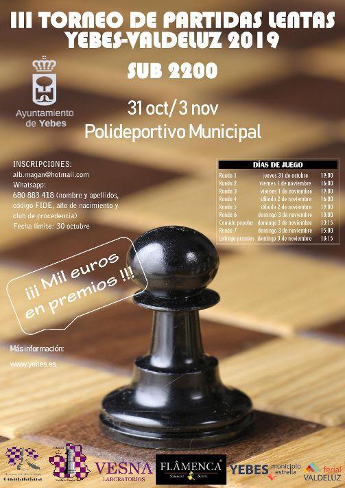 III Torneo de partidas lentas de ajedrez- valdeluz