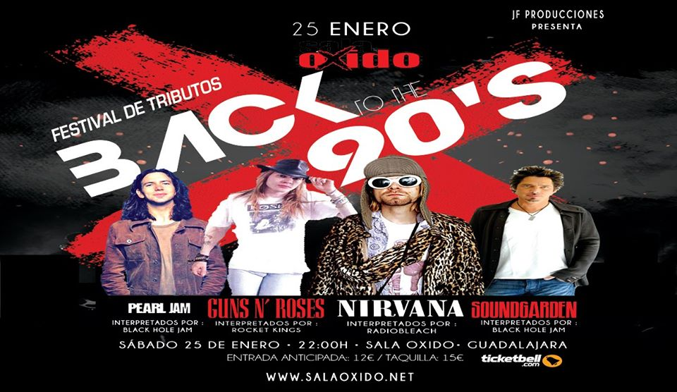 Festival de Tributos BACK to the 90'S Sala Oxido