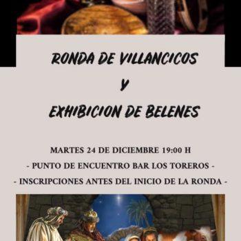 RONDA DE VILLANCICOS Y EXHIBICIÓN DE BELENES