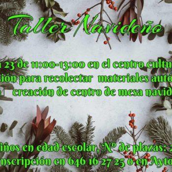 TALLER DE NAVIDAD 23 de Diciembre Pioz