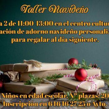 TALLER NAVIDEÑO 2 De Enero Pioz