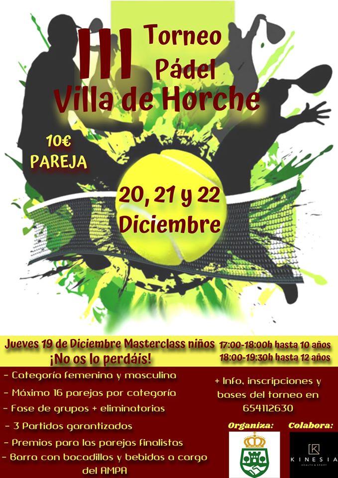 III torneo de padel Villa de Horche
