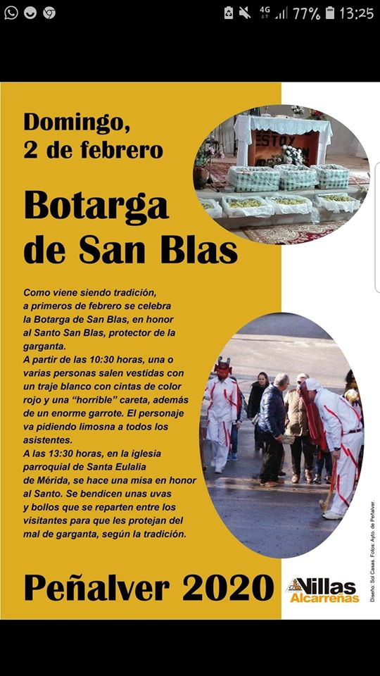 Botargas de San Blas en Peñalver