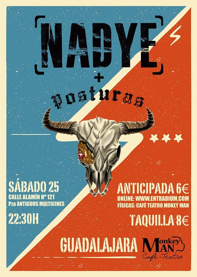 Nadye y Posturas en Guadalajara Cafe Teatro Monkey Man