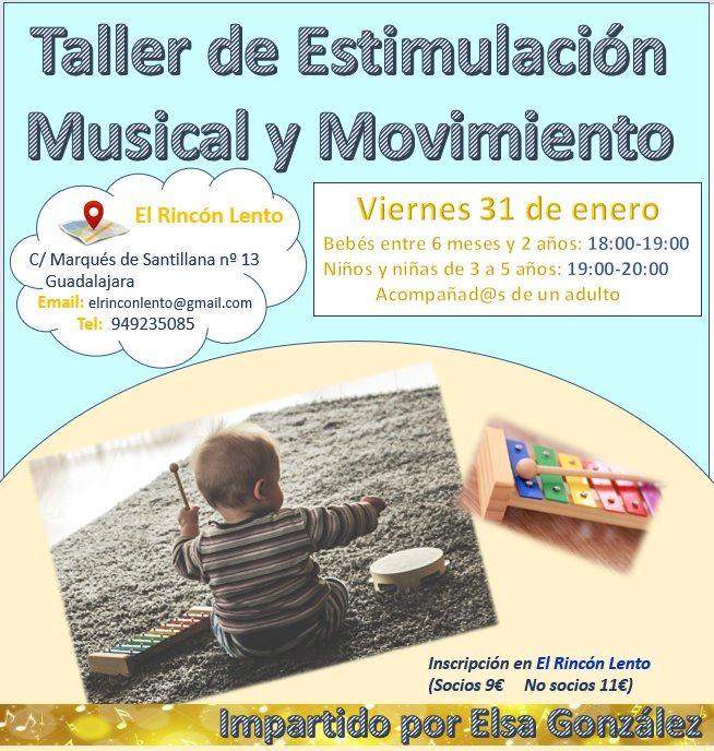 Taller de estimulación musical y movimiento