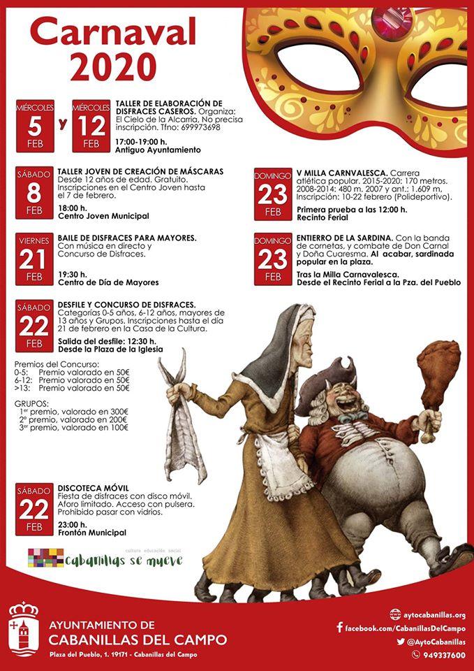 PROGRAMA CARNAVAL CABANILLAS DEL CAMPO 2020