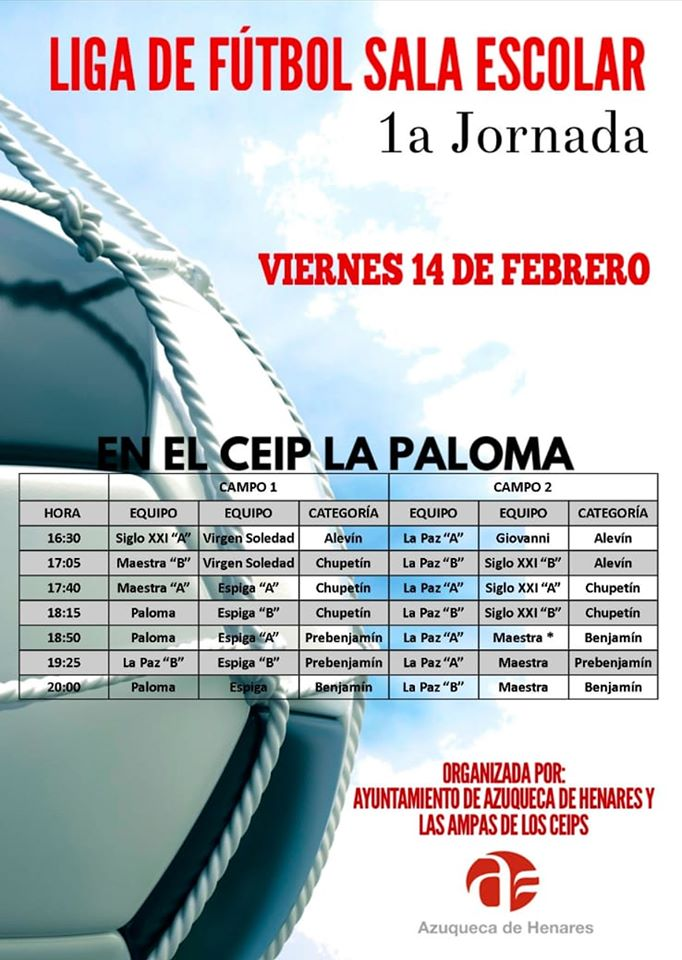 Liga de Fútbol Sala Escolar 1º Jornada en Azuqueca de Henares