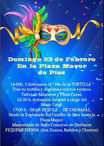 CARNAVAL EN LA PLAZA MAYOR DE PIOZ 2020