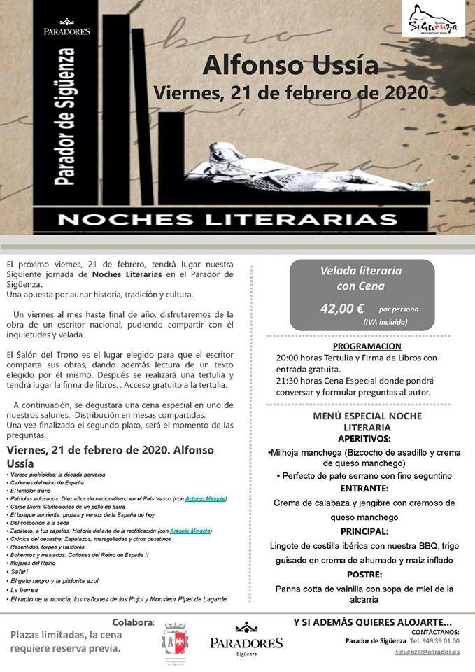 NOCHES LITERARIAS  con Alfonson Ussía  Sigüenza