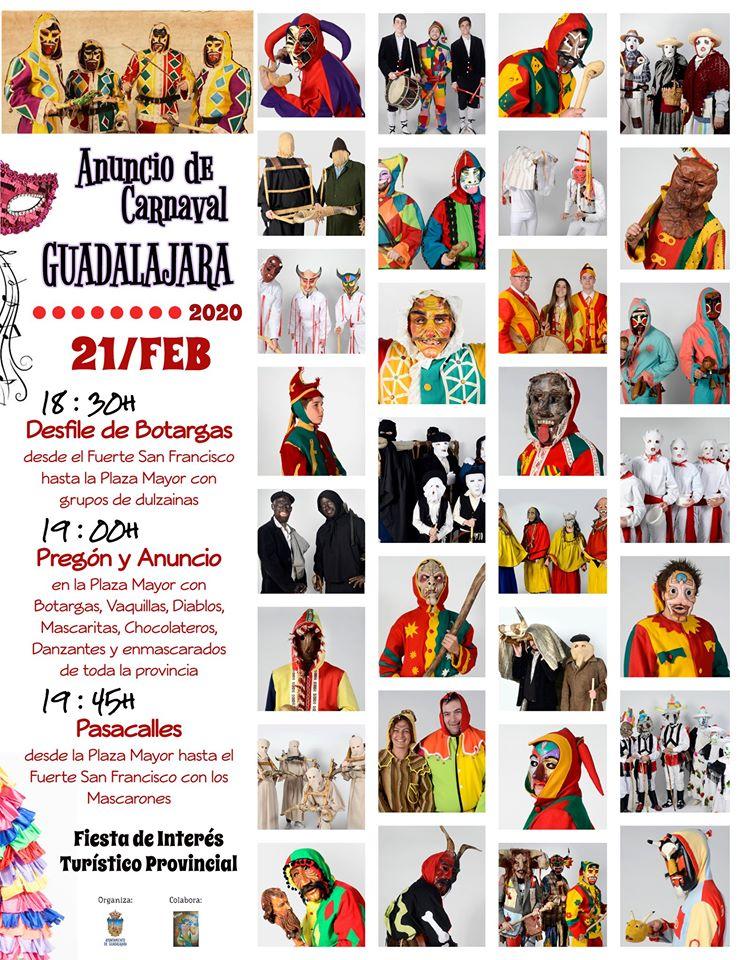 CARNAVAL BOTARGAS Y PREGÓN EN GUADALAJARA 2020
