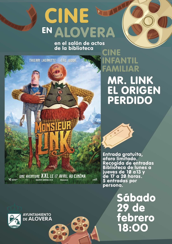 CINE EN ALOVERA MR. LINK EL ORIGEN PERDIDO
