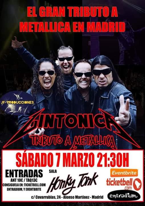 El Gran Tributo a Metallica en la Honky Tonk Madrid- Gintonica