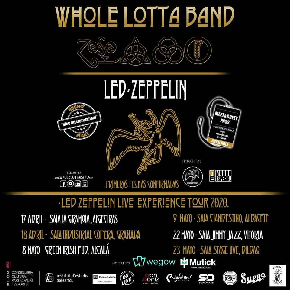 Led Zeppelin Live Experience by Whole Lotta Band