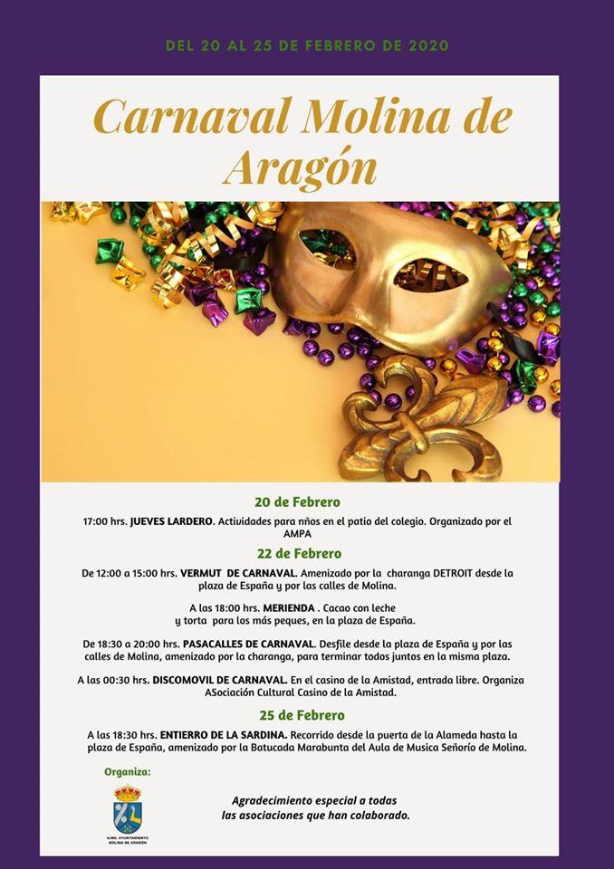 Programa de Carnaval Molina de Aragón 2020
